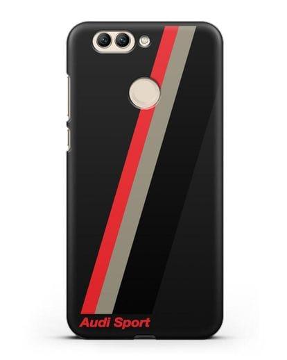 Чехол с логотипом Ауди Спорт силикон черный для Huawei Nova 2 Plus