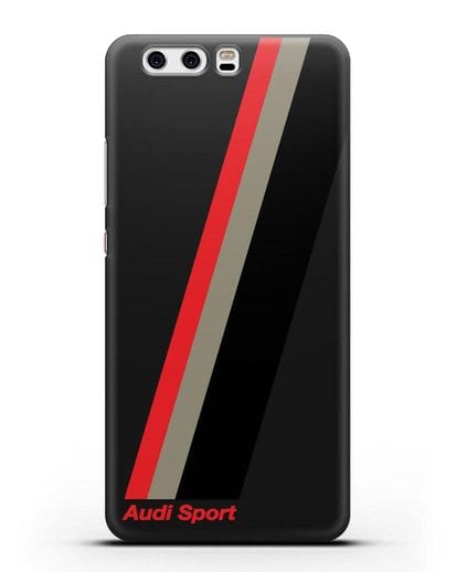 Чехол с логотипом Ауди Спорт силикон черный для Huawei P10
