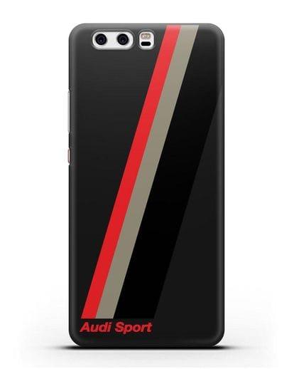 Чехол с логотипом Ауди Спорт силикон черный для Huawei P10 Plus