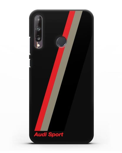 Чехол с логотипом Ауди Спорт силикон черный для Huawei P40 lite E