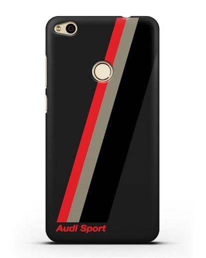 Чехол с логотипом Ауди Спорт силикон черный для Huawei P8 Lite 2017