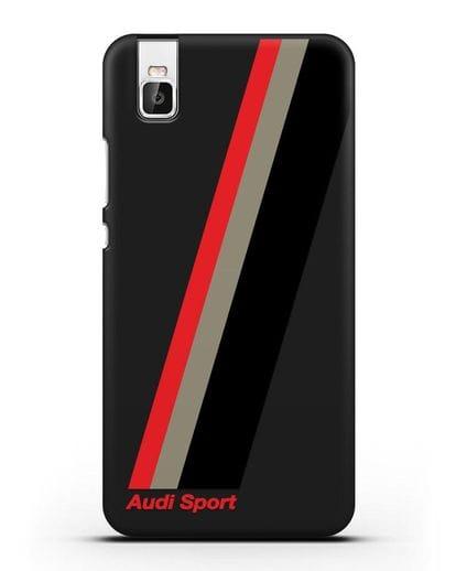 Чехол с логотипом Ауди Спорт силикон черный для Huawei Shot X