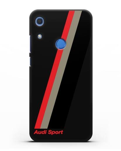 Чехол с логотипом Ауди Спорт силикон черный для Huawei Y6s
