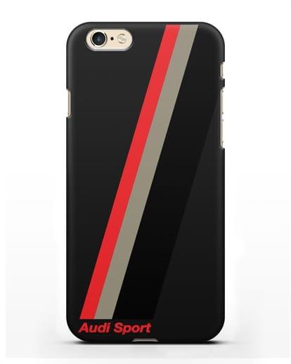 Чехол с логотипом Ауди Спорт силикон черный для iPhone 6s