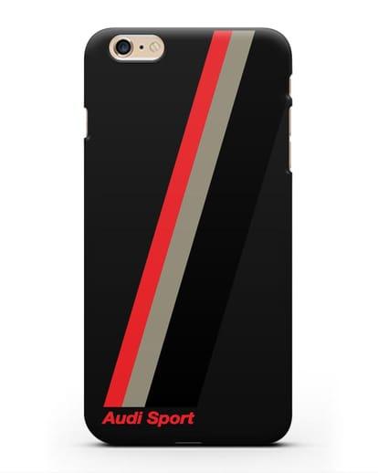 Чехол с логотипом Ауди Спорт силикон черный для iPhone 6s Plus