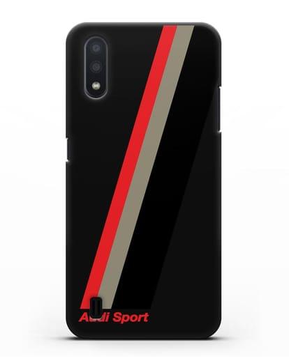 Чехол с логотипом Ауди Спорт силикон черный для Samsung Galaxy A01 [SM-A015F]
