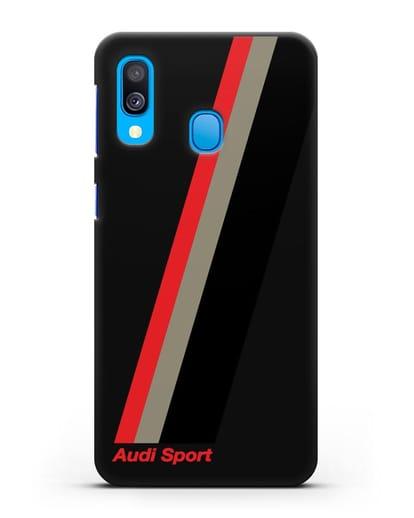 Чехол с логотипом Ауди Спорт силикон черный для Samsung Galaxy A40 [SM-A405F]