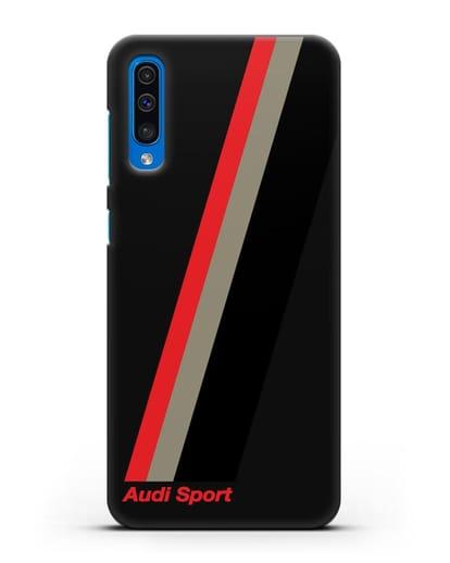 Чехол с логотипом Ауди Спорт силикон черный для Samsung Galaxy A50 [SM-A505F]