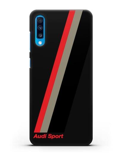 Чехол с логотипом Ауди Спорт силикон черный для Samsung Galaxy A70 [SM-A705F]