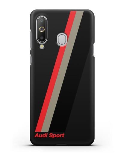 Чехол с логотипом Ауди Спорт силикон черный для Samsung Galaxy A8s [SM-G8870]