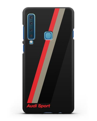 Чехол с логотипом Ауди Спорт силикон черный для Samsung Galaxy A9 (2018) [SM-A920]