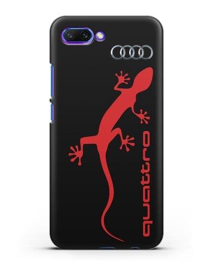 Чехол с логотипом Audi Quattro силикон черный для Honor 10