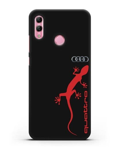 Чехол с логотипом Audi Quattro силикон черный для Honor 10 Lite