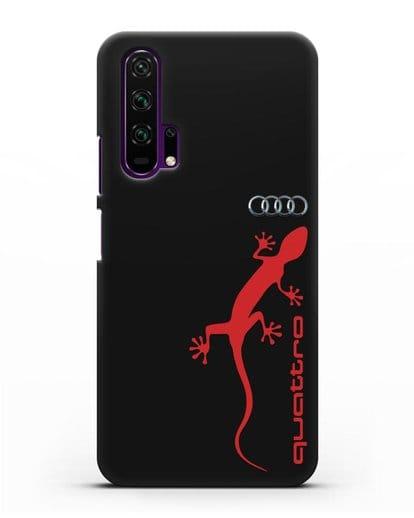 Чехол с логотипом Audi Quattro силикон черный для Honor 20 Pro