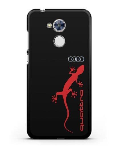 Чехол с логотипом Audi Quattro силикон черный для Honor 6A