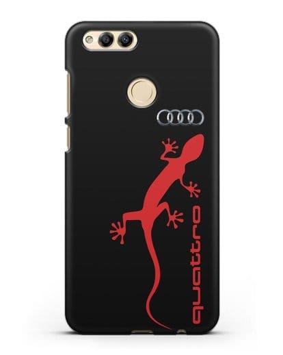Чехол с логотипом Audi Quattro силикон черный для Honor 7X
