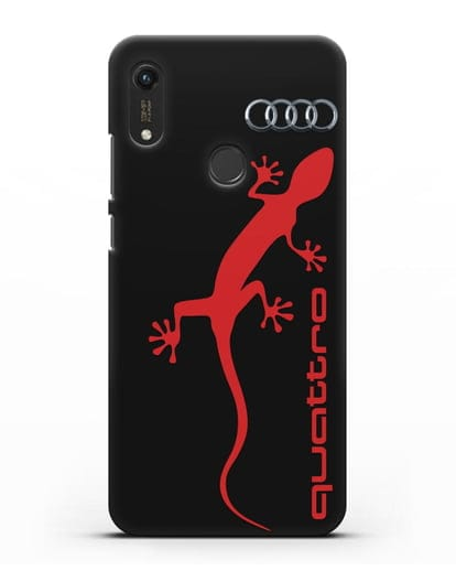 Чехол с логотипом Audi Quattro силикон черный для Honor 8A Prime