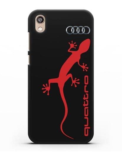 Чехол с логотипом Audi Quattro силикон черный для Honor 8S Prime