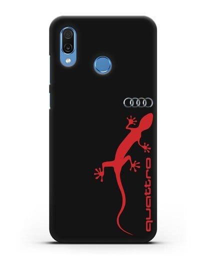 Чехол с логотипом Audi Quattro силикон черный для Honor Play