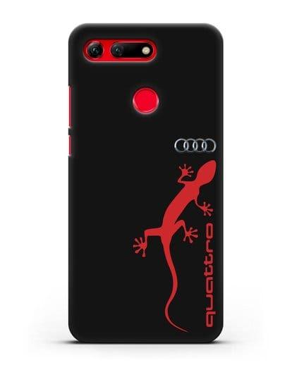 Чехол с логотипом Audi Quattro силикон черный для Honor View 20