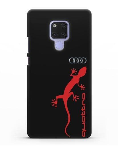 Чехол с логотипом Audi Quattro силикон черный для Huawei Mate 20X