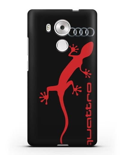Чехол с логотипом Audi Quattro силикон черный для Huawei Mate 8