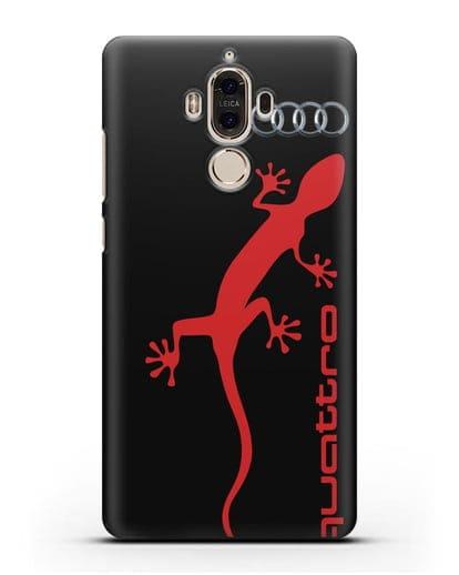 Чехол с логотипом Audi Quattro силикон черный для Huawei Mate 9
