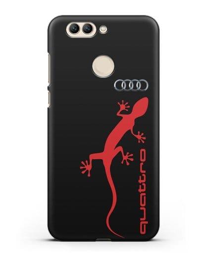 Чехол с логотипом Audi Quattro силикон черный для Huawei Nova 2 Plus