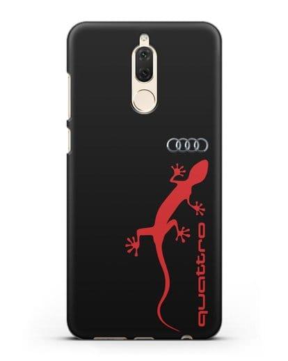Чехол с логотипом Audi Quattro силикон черный для Huawei Nova 2