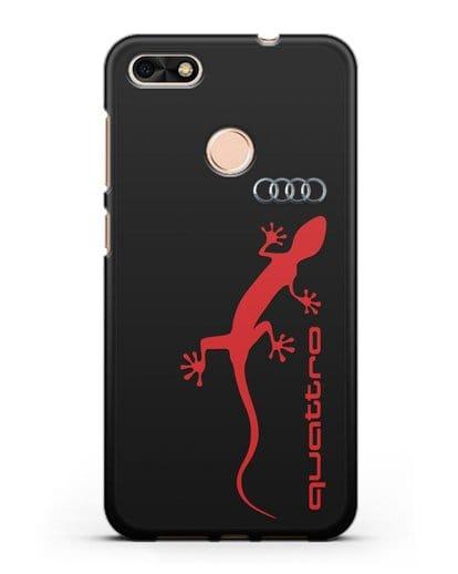 Чехол с логотипом Audi Quattro силикон черный для Huawei P9 Lite mini