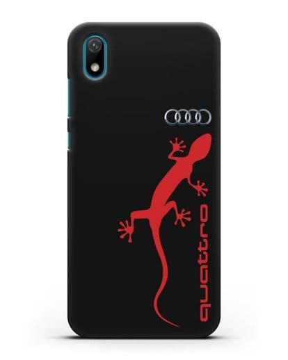 Чехол с логотипом Audi Quattro силикон черный для Huawei Y5 2019