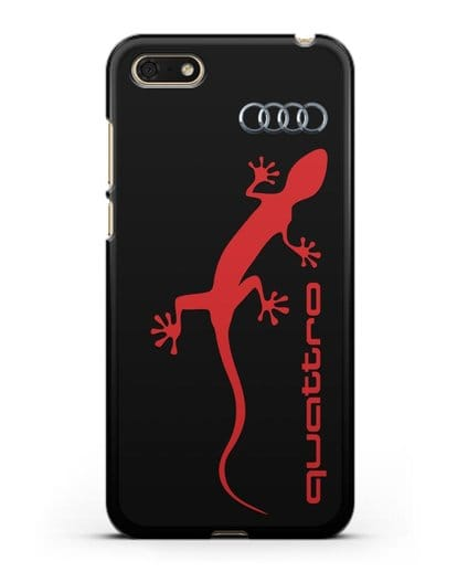 Чехол с логотипом Audi Quattro силикон черный для Huawei Y5 Prime 2018