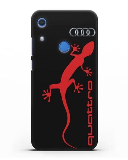 Чехол с логотипом Audi Quattro силикон черный для Huawei Y6s