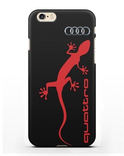 Чехол с логотипом Audi Quattro силикон черный для iPhone 6s