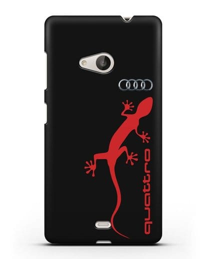 Чехол с логотипом Audi Quattro силикон черный для Microsoft Lumia 535