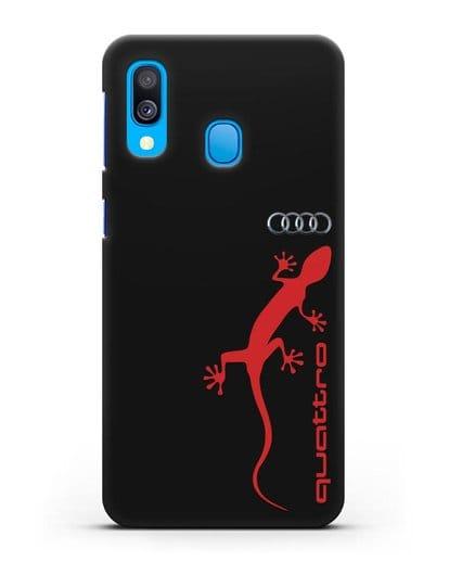 Чехол с логотипом Audi Quattro силикон черный для Samsung Galaxy A40 [SM-A405F]