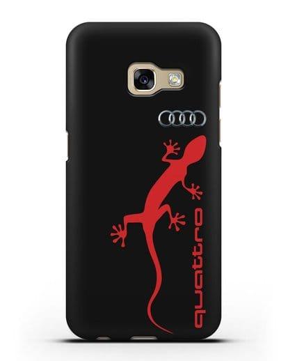 Чехол с логотипом Audi Quattro силикон черный для Samsung Galaxy A7 2017 [SM-A720F]