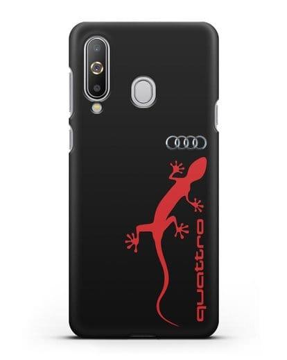 Чехол с логотипом Audi Quattro силикон черный для Samsung Galaxy A8s [SM-G8870]