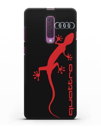 Чехол с логотипом Audi Quattro силикон черный для Samsung Galaxy A90 [SM-A908N]