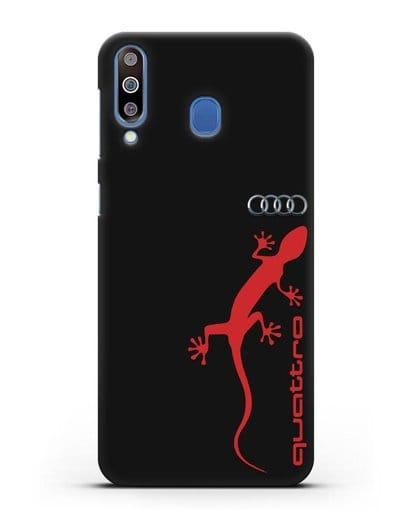 Чехол с логотипом Audi Quattro силикон черный для Samsung Galaxy M30 [SM-M305F]