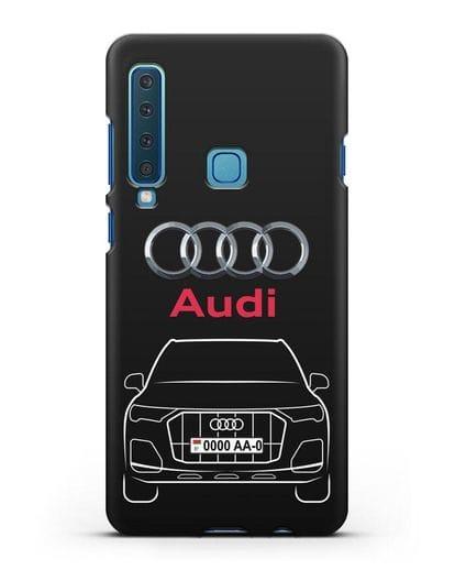 Чехол Audi Q7 с номерным знаком силикон черный для Samsung Galaxy A9 (2018) [SM-A920]