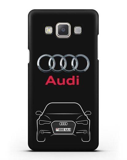 Чехол Audi A6 с номерным знаком силикон черный для Samsung Galaxy A7 2015 [SM-A700F]