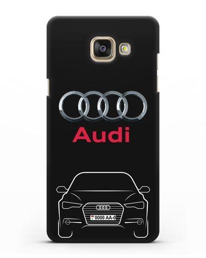 Чехол Audi A6 с номерным знаком силикон черный для Samsung Galaxy A7 2016 [SM-A710F]