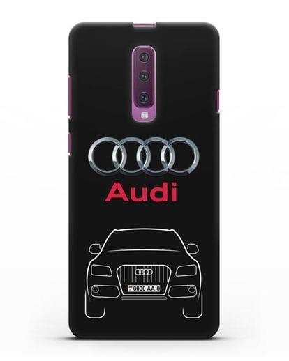 Чехол Audi Q5 с номерным знаком силикон черный для Samsung Galaxy A90 [SM-A908N]