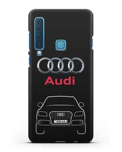 Чехол Audi Q5 с номерным знаком силикон черный для Samsung Galaxy A9 (2018) [SM-A920]