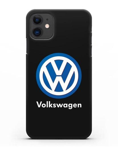 Чехол с логотипом Volkswagen силикон черный для iPhone 11