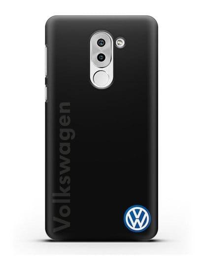Чехол с надписью Volkswagen и логотипом силикон черный для Honor 6X