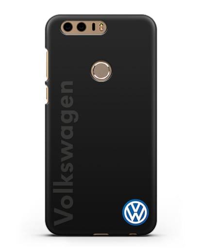 Чехол с надписью Volkswagen и логотипом силикон черный для Honor 8