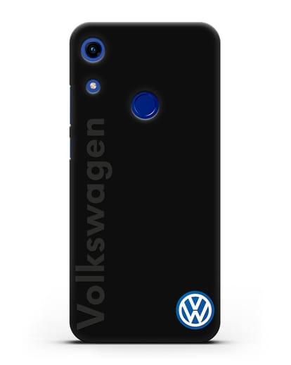 Чехол с надписью Volkswagen и логотипом силикон черный для Honor 8A