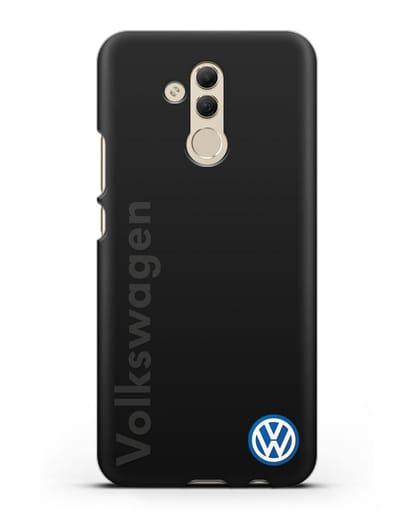 Чехол с надписью Volkswagen и логотипом силикон черный для Huawei Mate 20 Lite